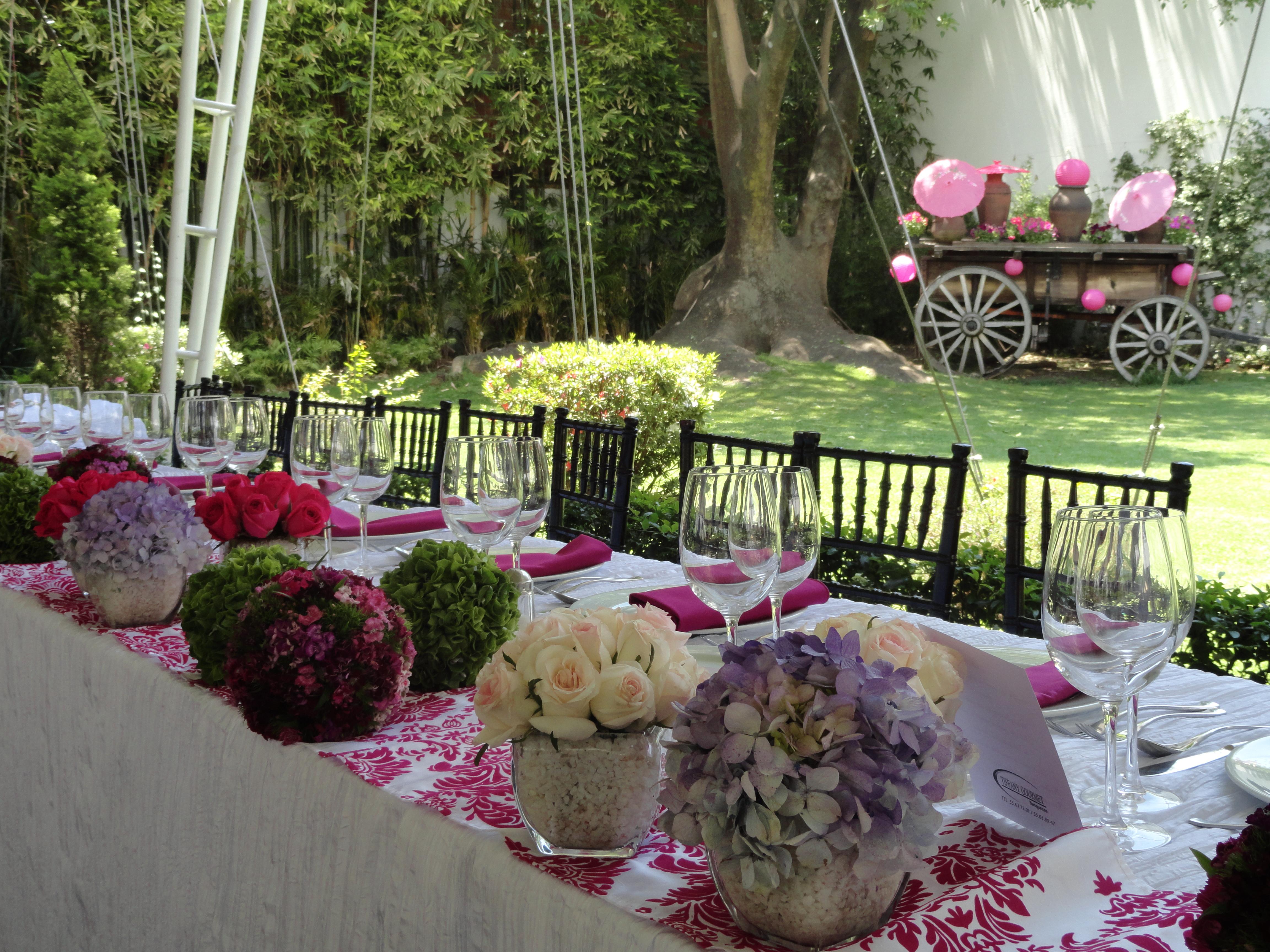 decoración de bodas en jardin