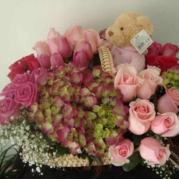 Las flores para recién nacidos es una tierna y dulce manera de dar la bienvenida a un bebe.