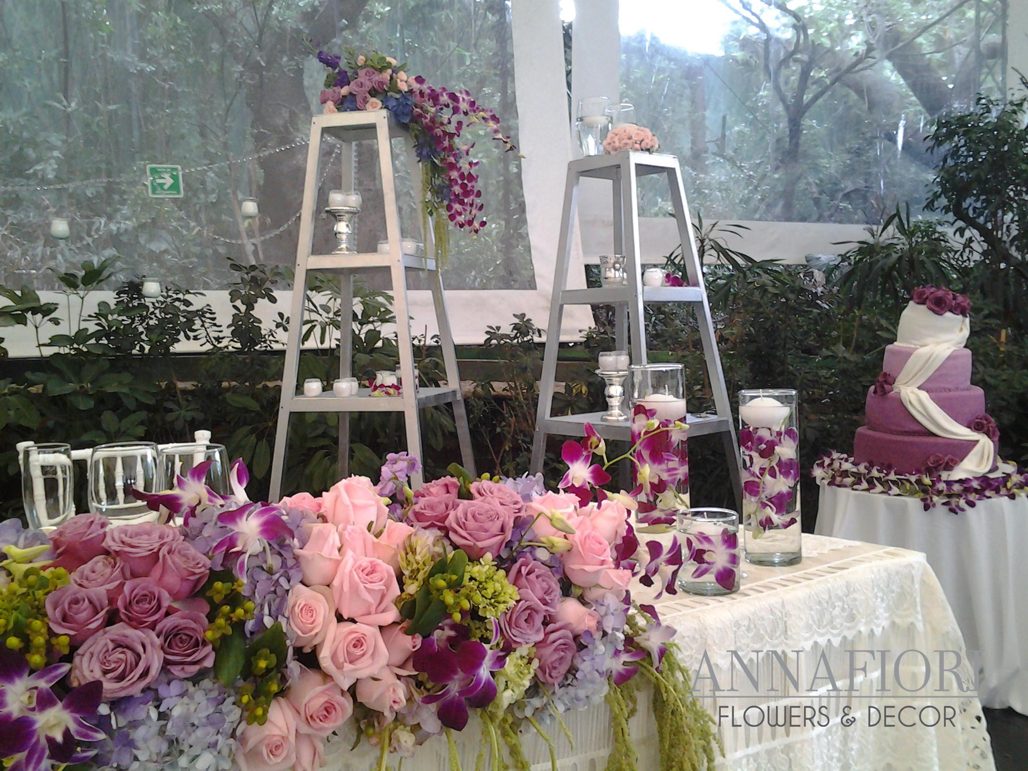 Eventos by Annafiori decoración de boda en tonos rosa