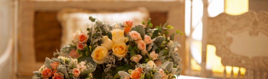 centros de mesa flores color pastel