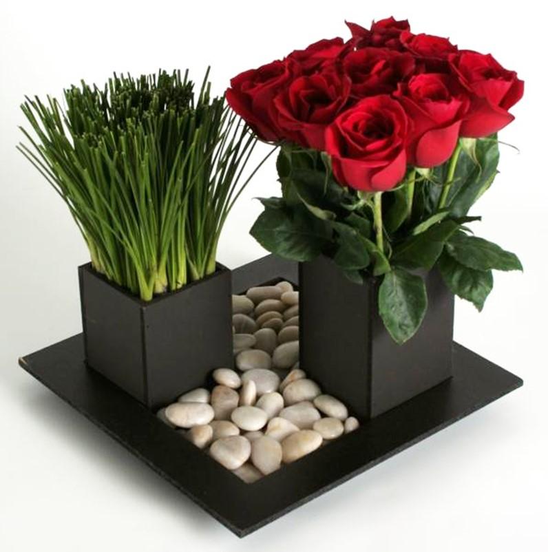 Rosas Rojas En Caja Chocolate